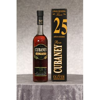 Cubaney 25 Jahre Tesoro Grand Reserve Rum 0,7 ltr.