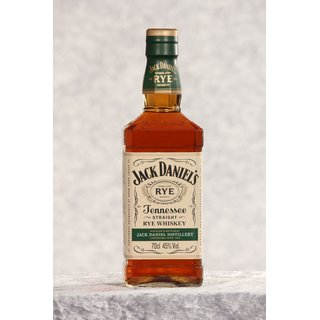 Jack Daniels Tennessee Straight Rye Whiskey 0,7 ltr.