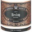 2018 Wegeler Riesling Mosel trocken 0,75 Liter...