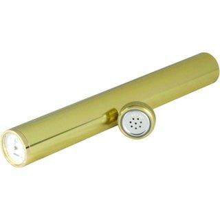 Zigarrenröhre inkl. Hygrometer in Gold