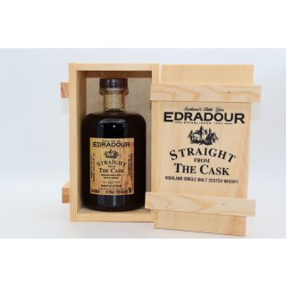 Edradour 2010 10 Jahre, Straight from the Cask Sherry Butt Cask No. 162 0,5 ltr.