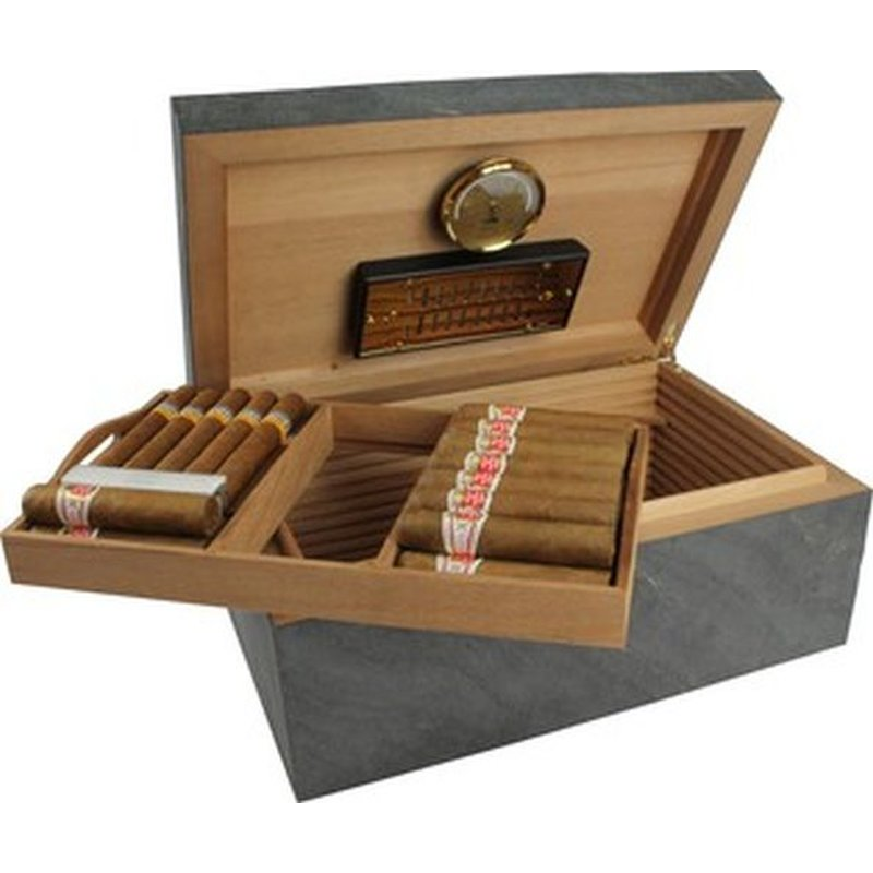 Adorini Humidor Black Slate Deluxe L - Sonderedition
