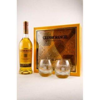 Glenmorangie 10 Jahre, The Original Geschenkpackung mit 2 Gläsern 0,7 ltr.